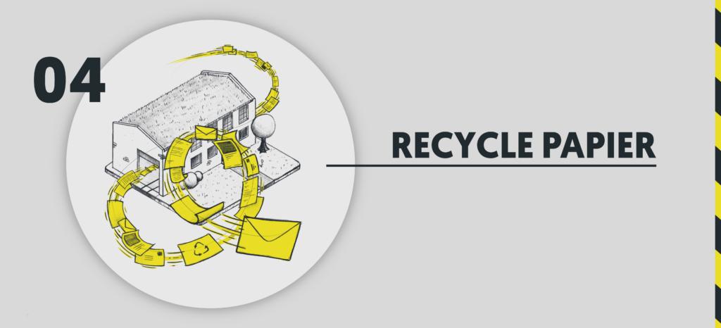 Recycle Papier GEH8 Wir werden grüner